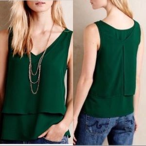 "Anthropologie ""Holly"" Layered Tank"
